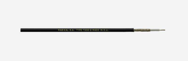 Mabikal, T300-2, Μικροφωνικό καλώδιο με 1 αγωγό και Επικασσιτερωμένο Μπλεντάζ.