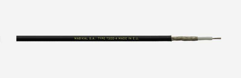 Mabikal, T300-4, Μικροφωνικό καλώδιο με 1 αγωγό και Επικασσιτερωμένο Μπλεντάζ.