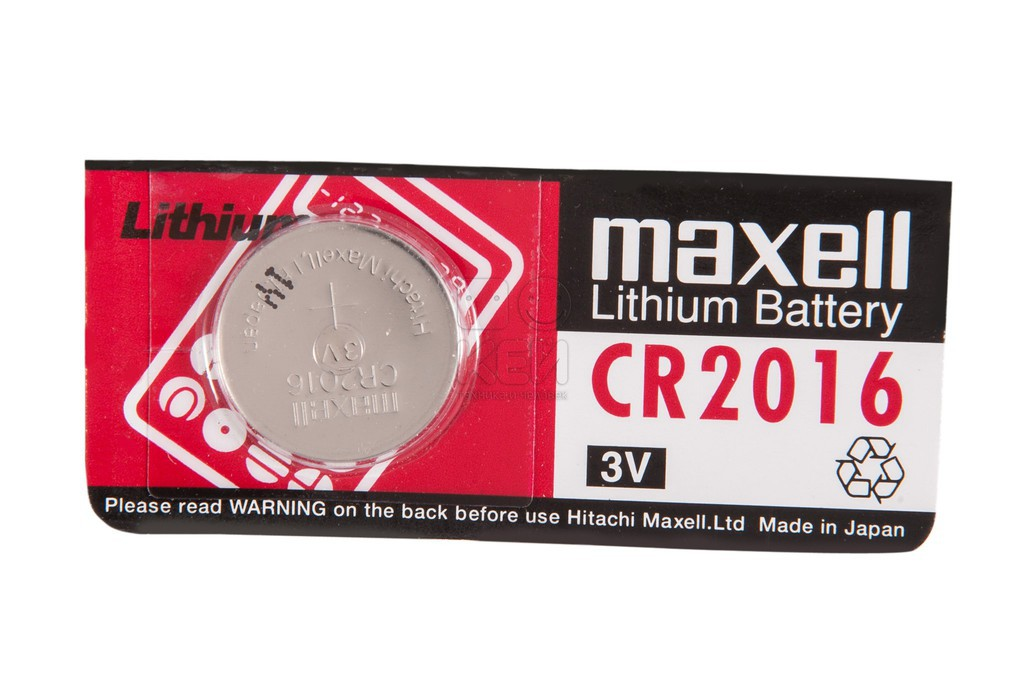 Maxell, CR2016, Μπαταρία λιθίου 3V
