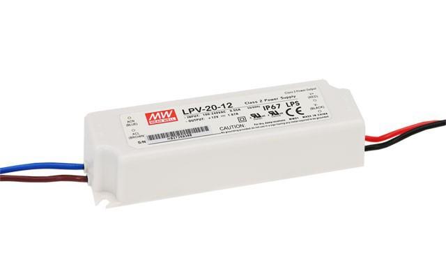 Mean Well LPV20-12 Τροφοδοτικό αδιάβροχο IP67, 12V, 1.67A, 20W