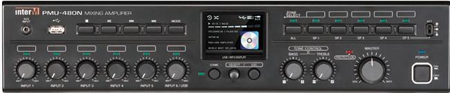 INTER-M PMU-480N ΜΙΚΤΗΣ-ΕΝΙΣΧΥΤΗΣ 6 ΕΙΣΟΔΩΝ 480W/100V 5 ΖΩΝΕΣ NETWO