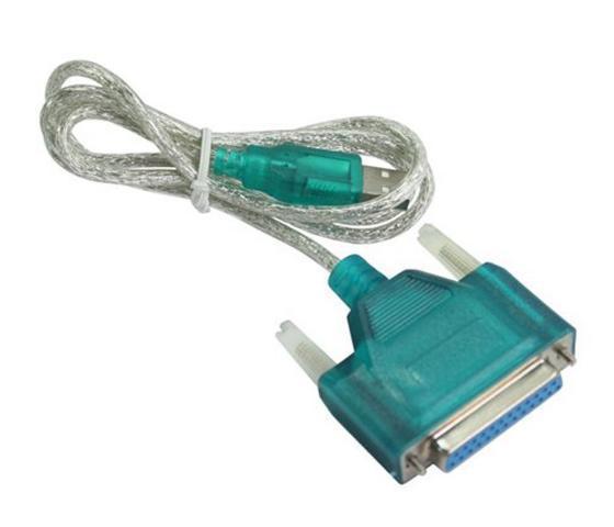 Powertech, CAB-U044, Καλώδιο USB 2.0V σε Parallel 25pin (F) - 1.5m