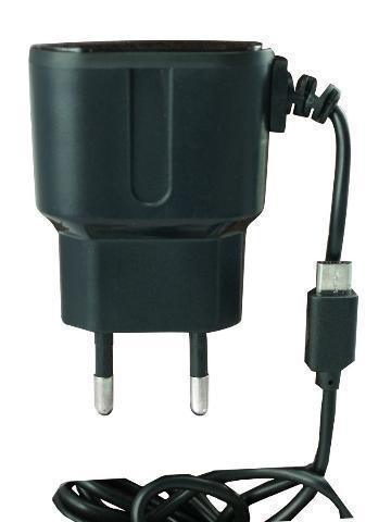 Powertech, PT-200, Φορτιστής Πρίζας 1A με καλώδιο micro-USB