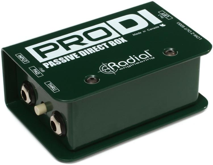 Radial, PRO-DI, Παθητικό DI-Box -15dB απόκριση συχνότητας: 20Hz-18kHz, GROUNDLIFT διακόπτης