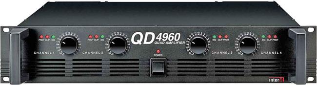 INTER-M QD-4960 ΤΕΛΙΚΟΣ ΕΝΙΣΧΥΤΗΣ 4X240W/4Ω