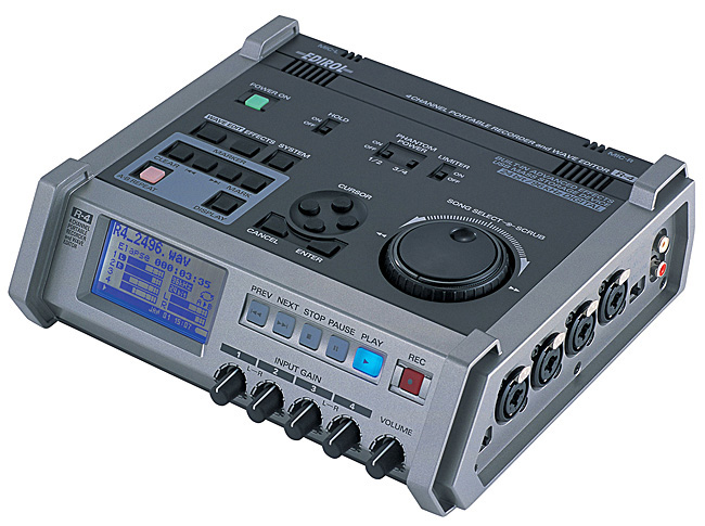 ROLAND R-4 4-CH PORTABLE RECORDER/WAVE EDITOR