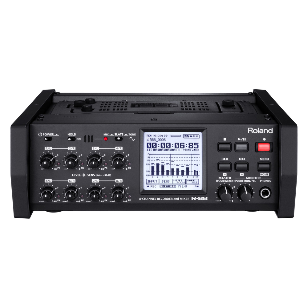 ROLAND R-88 8CH PORTABLE RECORDER W SMPTE CODE