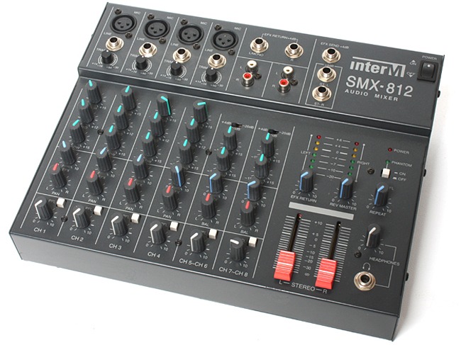INTER-M SMX-812 LINE MIXER 4MIC, 2STEREO