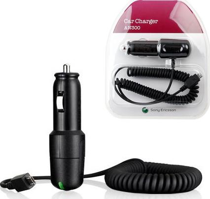 Sony Ericsson, AN300, Φορτιστής Αυτοκινήτου με micro-USB 700mA.