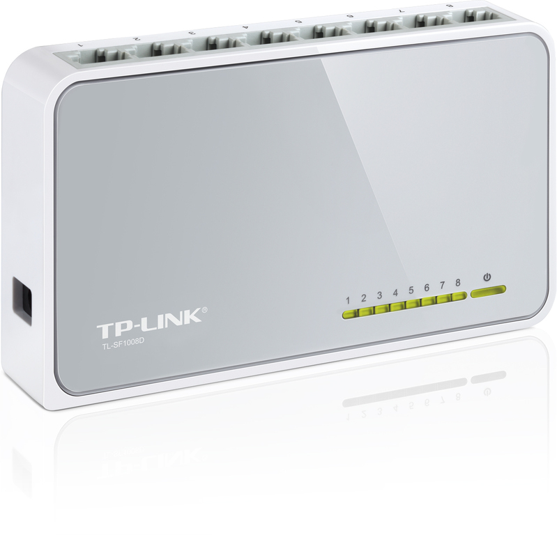 TP-Link TL-SF1008D, 8 Port Network Switch 10/100 V8.0