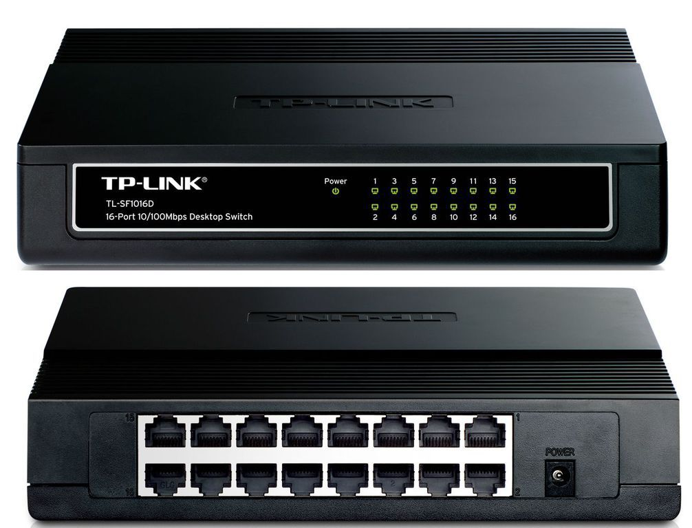 Διανομέας Δικτύου TP-Link TL-SF1016D, 16 Port Network Switch 10/100 VER.3