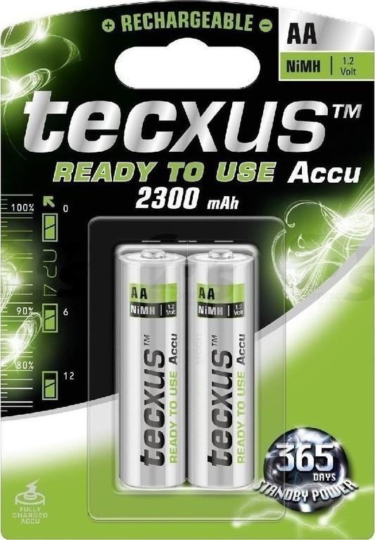 Tecxus, AA NIMH 1.2V. 2300mAh, Επαναφορτιζόμενη Μπαταρία Ready to Use