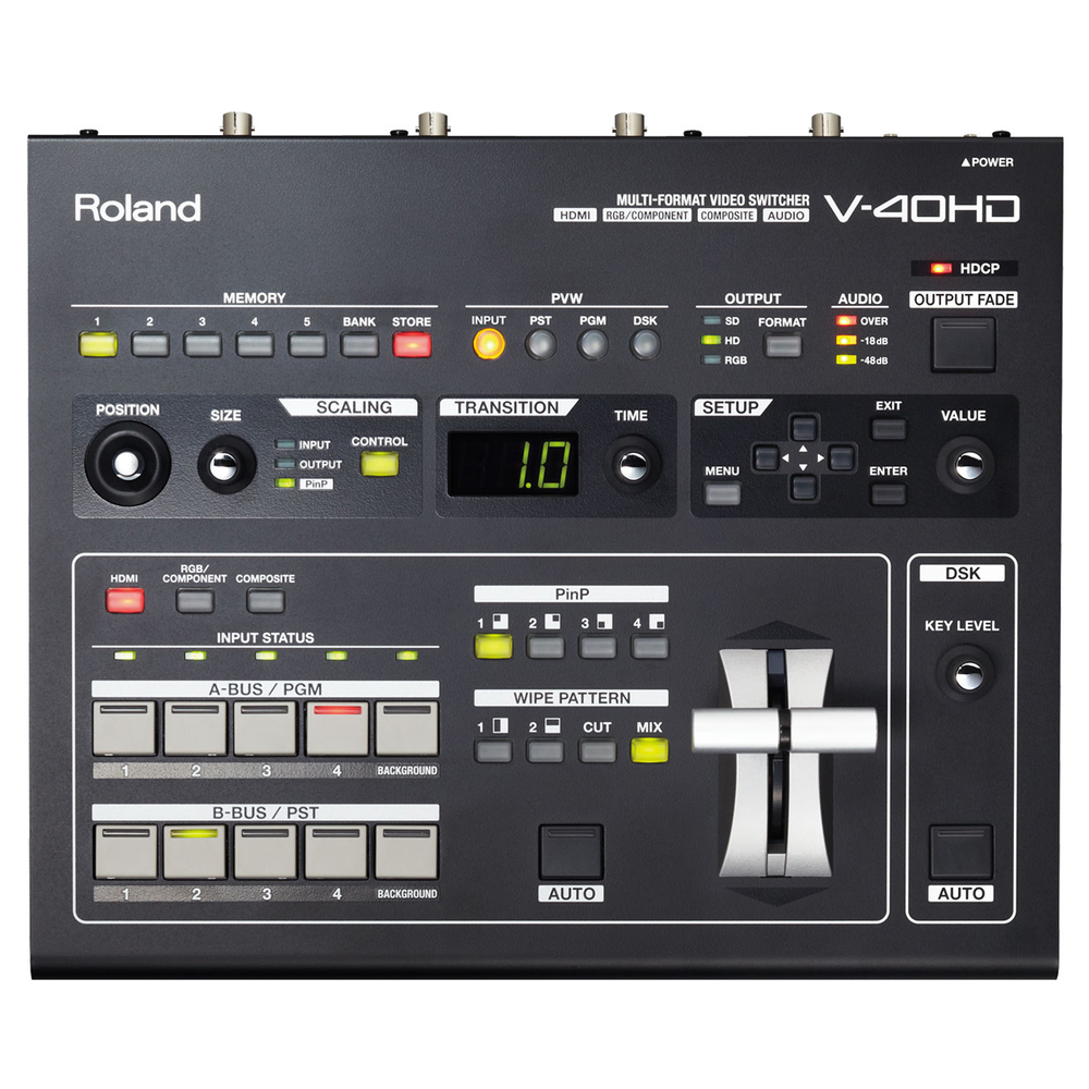 ROLAND V-40HD MULTI FORMAT VIDEO SWITCHER