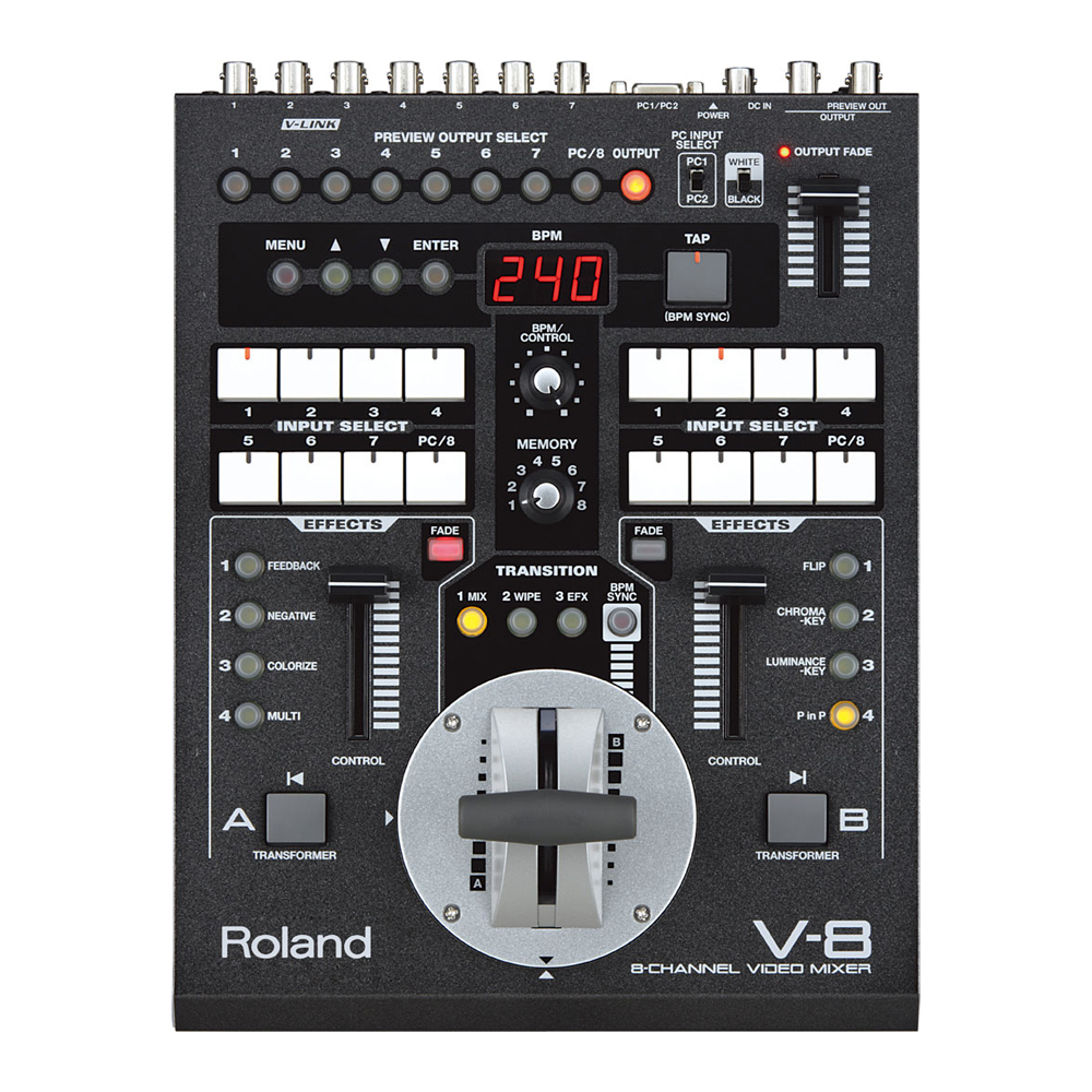ROLAND V-8 8-CH VIDEO MIXER