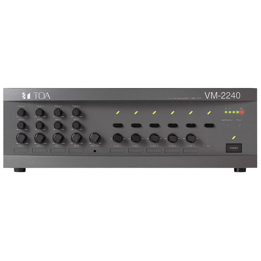TOA VM-2240 ER ΜΙΚΤΗΣ-ΕΝΙΣΧΥΤΗΣ 4 ΕΙΣΟΔΩΝ 240W/100V 5 ΖΩΝΕΣ