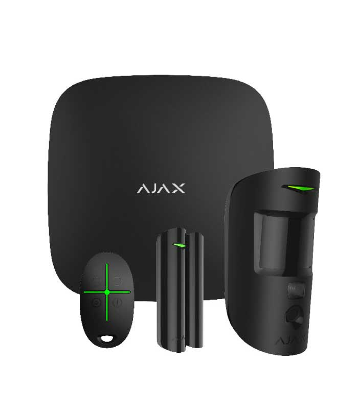 Ajax Starter Kit Cam Black Ασύρματο Σύστημα Συναγερμού