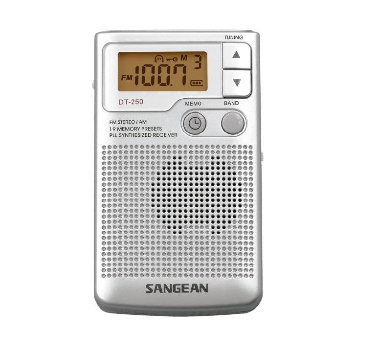 Sangean DT-250 Silver Φορητό Ραδιόφωνο