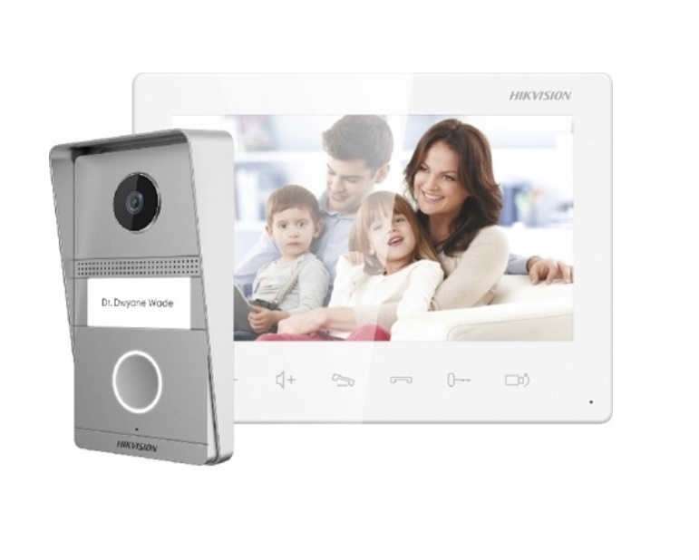 Hikvision DS-KIS101-P/Surface Έγχρωμο Κιτ Θυροτηλεόρασης 2 Καλωδίων