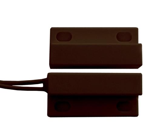 ALEPH DC1561 (AL.BR.561.00) Βιδωτή & Αυτοκόλλητη Μικρή Μαγνητική Επαφή Χρώμα Καφέ (10 τεμ)
