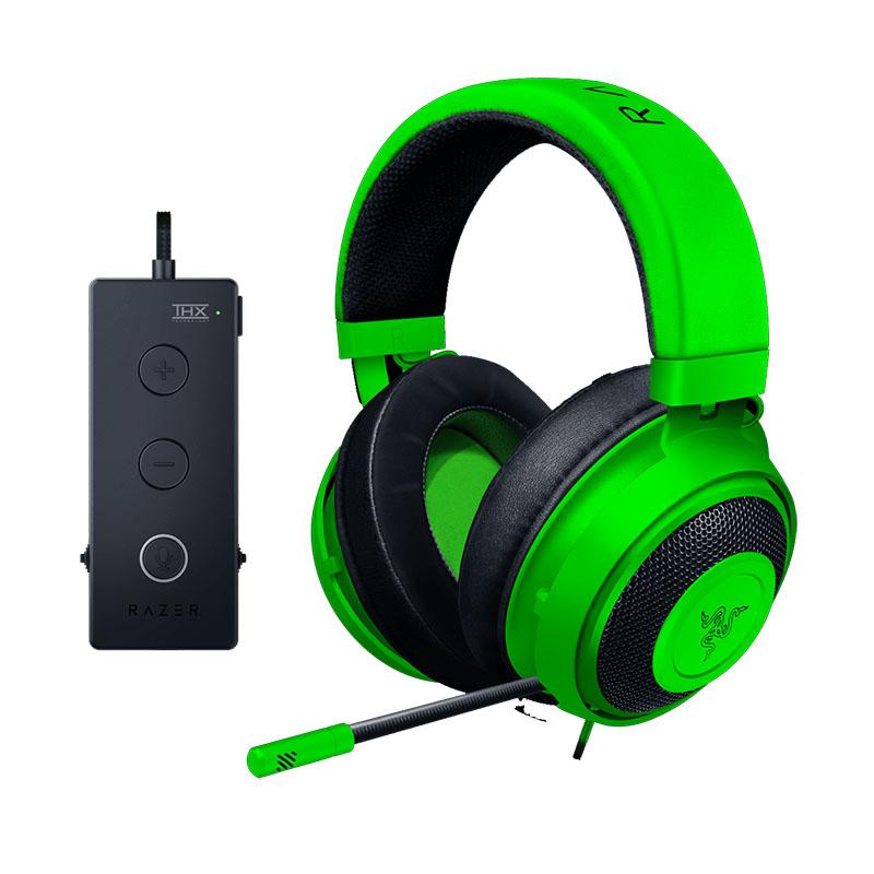 RAZER KRAKEN 7.1 TOURNAMENT (GREEN) – THX AUDIO CONTROLLER – COOLING GEL EAR CUPS – GAMING HEADSET