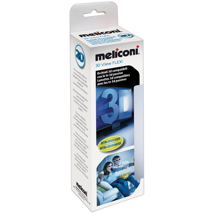 MELICONI 497402 3D VIEW FLEXI PASSIVE GLASSES