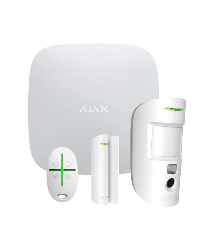 Ajax Starter Kit Cam White Ασύρματο Σύστημα Συναγερμού