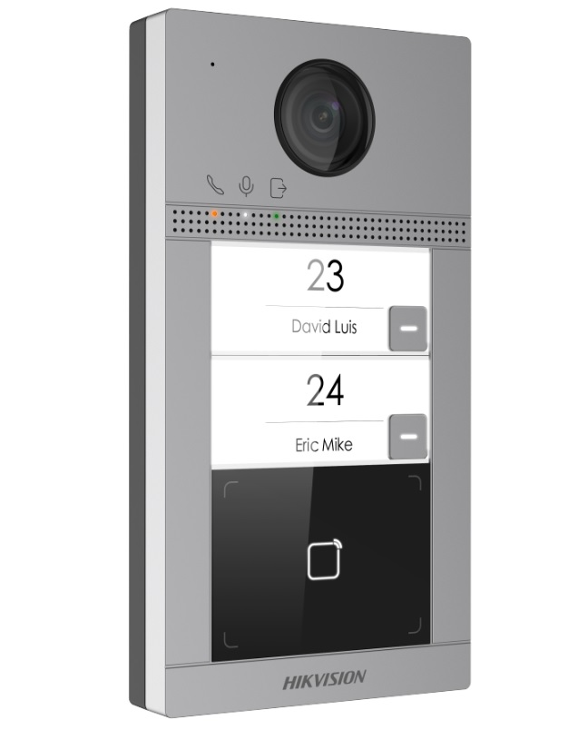 Hikvision DS-KV8213-WME1 Δικτυακή (IP) Μπουτονιέρα Εισόδου με 2 Μπουτόν Κλήσης