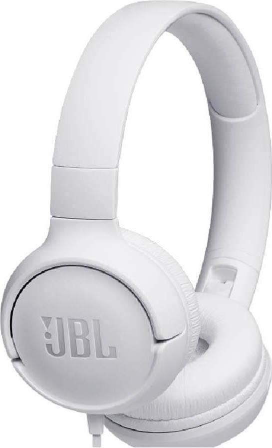 JBL TUNE500 White Ενσύρματα Ακουστικά On-Ear