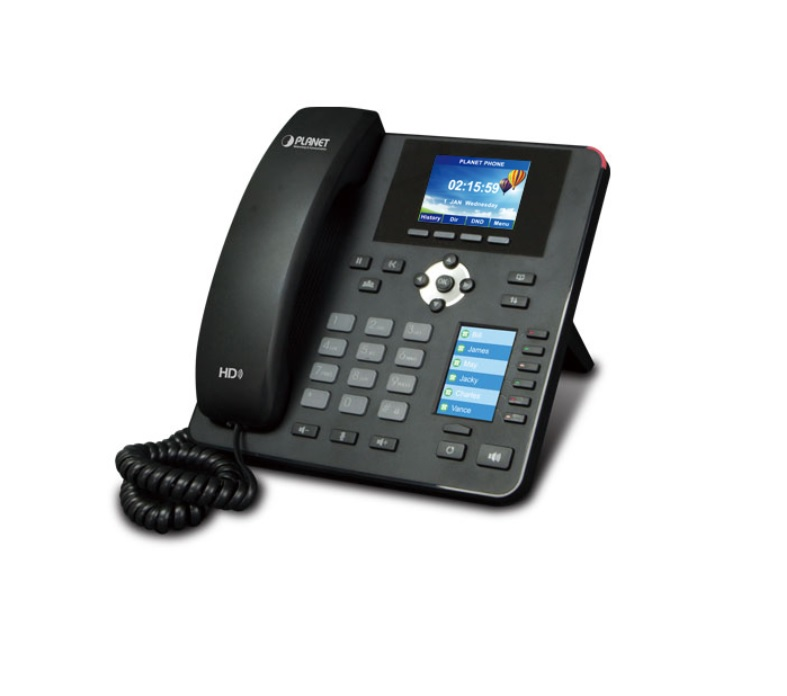 PLANET VIP-2140PT High Definition Color PoE IP Phone with Dual Display