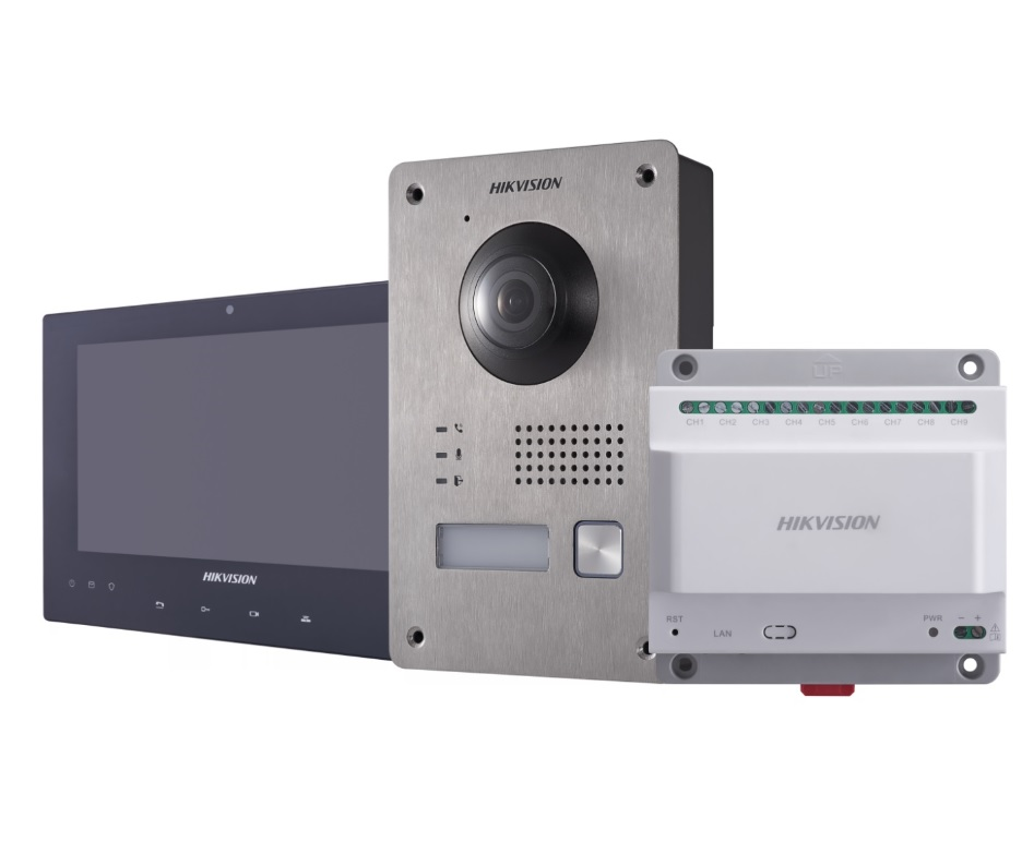 Hikvision DS-KIS701 Έγχρωμο Κιτ Θυροτηλεόρασης 2 Καλωδίων