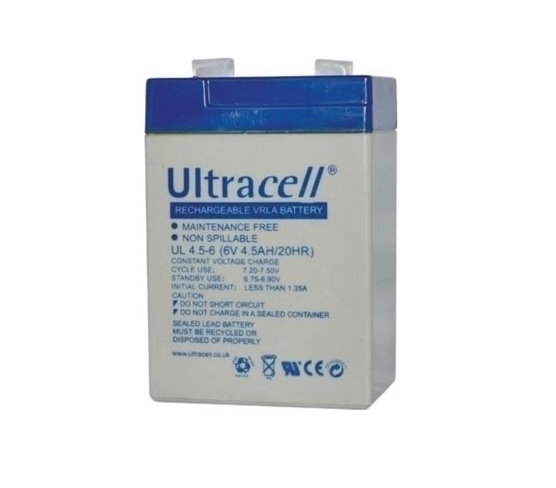 Ultracell UL4.5-6 Επαναφορτιζόμενη Μπαταρία Μολύβδου 6 Volt / 4,5 Ah