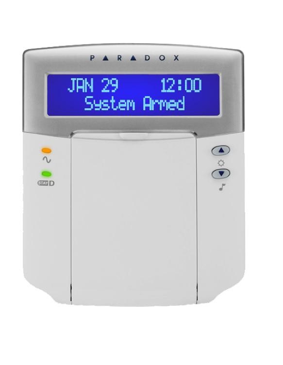Paradox K32LCD+ LCD Πληκτρολόγιο 32 ζωνών