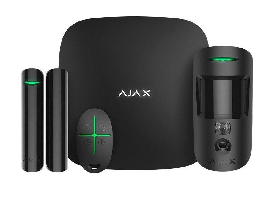 Ajax Starter Kit Cam Plus Black Ασύρματο Σύστημα Συναγερμού