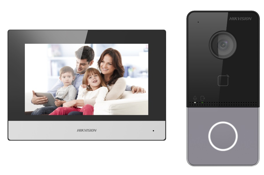 Hikvision DS-KIS603-P Έγχρωμο Κιτ Θυροτηλεόρασης IP Wi-Fi με Mifare Card Reader