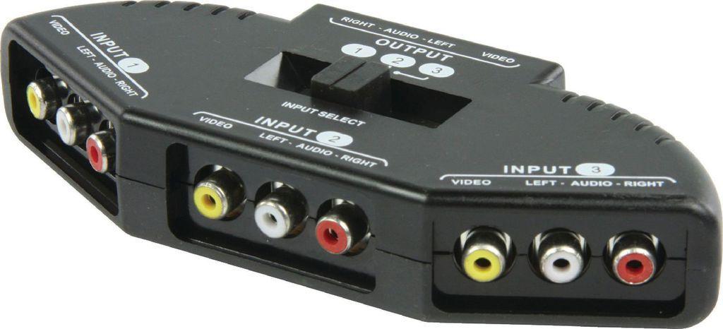 HQ AVSWITCH-6, AV Switch 3 εισόδων RCA σε 1 εξόδο RCA