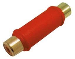 Ultimax, RA311G, Αντάπτορας RCA Θηλυκό σε RCA Θηλυκό επίχρυσοι ακροδέκτες - Κόκκινο