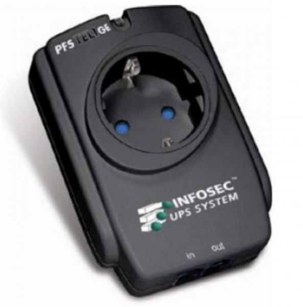 Infosec, PFS TEL 1 GE, Πρίζα αντικεραυνική με προστασία